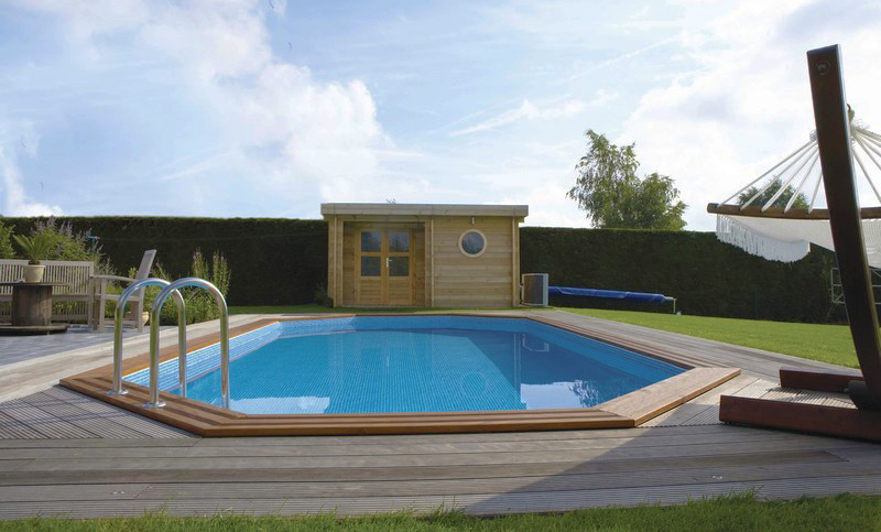 Piscine in legno NorthWood ottagono allungato interrata