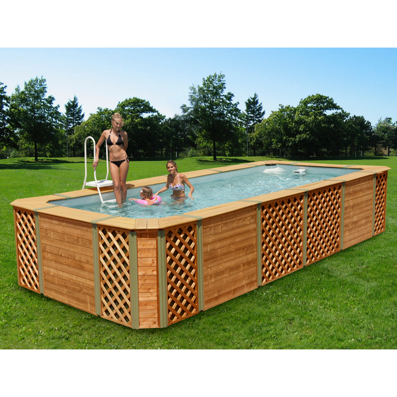 Piscine rivestite in legno technypools for Piscine portante