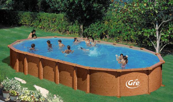 Montaggio piscine in acciaio effetto legno | Piscine in legno