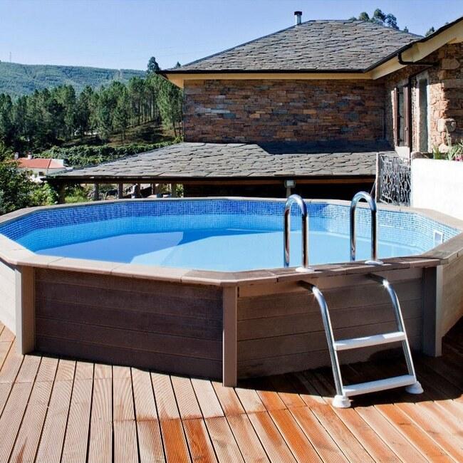 Piscine in pietra ricostruita effetto legno archivi piscine in legno - Piscine fuori terra rivestite in pietra prezzi ...