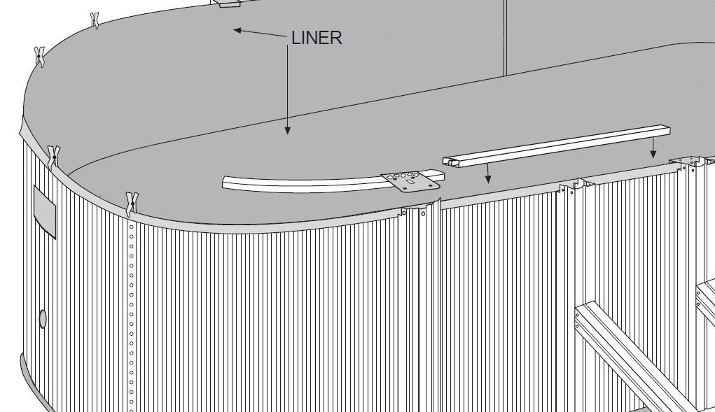 Montaggio piscine in acciaio profili