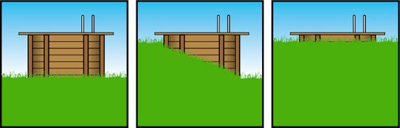 Piscine in legno NorthWood opzioni montaggio