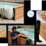 Piscine rivestite in legno Technypools montaggio