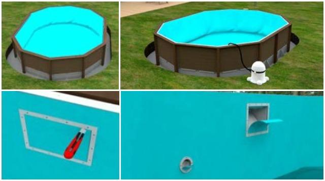 Montaggio liner piscine in pietra