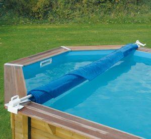 accessori per piscine in legno rullo copertura