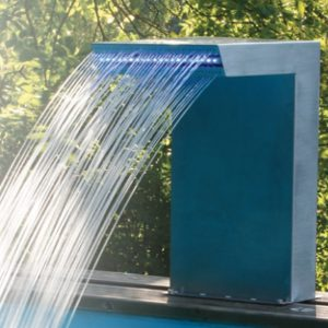 accessori per piscine in legno cascata straight