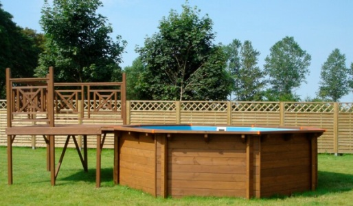 accessori per piscine in legno solarium
